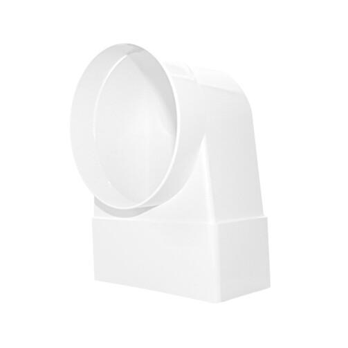 D/KLZ Ø104/ 110x55 колено-соединитель плоское/круглое