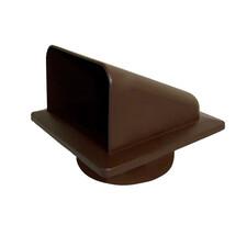 KRD brown Ø100 решетка вытяжная с крышкой