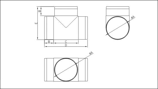 розмір трійник круглий dto
